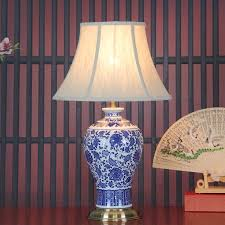 White Ceramic Bedroom Lamps Online Get Cheap Blue White Chinese Table Lamp Aliexpress Com