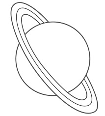 free printable space coloring pages planet uranus with title2 coloring page space