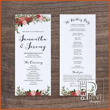wedding programs templates wedding program templates sop exle