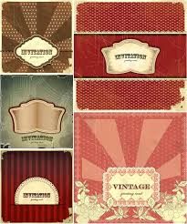 vintage style invitation cards vector free stock vector