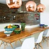 copper pendant lights in the kitchen kitchn