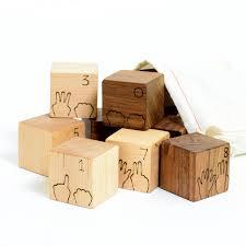 manzanita counting numbers wood blocks set