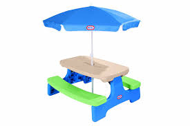 little kids picnic table review little tikes easy store picnic table with umbrella great