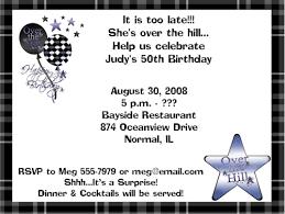 50th birthday party invitation template dolanpedia invitations ideas