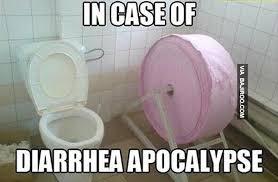 Meme Toilet - in case of diarrhea funny toilet paper strange concepts