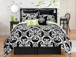 Xl Twin Duvet Covers Bedding Sunset And Vine Kennedy 6 Piece Xl Twin Comforter Set Black White