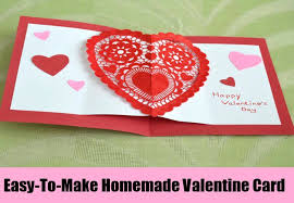 Make Valentines Card - homemade valentine card ideas how to make home made valentine u0027s