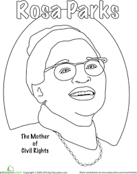 Rosa Parks Coloring Page rosa parks coloring worksheet education
