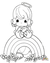 rainbow angel coloring free printable coloring pages