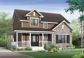 Transitional Style House House Plan W3721 Detail From Drummondhouseplans Com Reverse