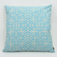 Navy Blue Cushions Uk Moroccan Tile Slim Cushion By Helen Rawlinson Notonthehighstreet Com