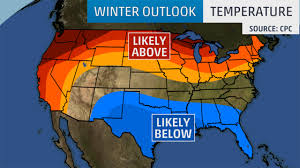 New England Weather Map by Winter Outlook 2015 2016 Cold Wet South And Warm Dry North