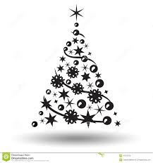 christmas tree isolated abstract design logo stock vector