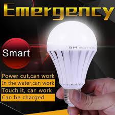 touch l light bulbs qoo10 smart led bulb e27 ac 85 265v emergency rechargeable battery