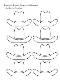 kindergarten printable hat templates cowboy hat nametags sheet