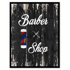 Home 2 Home Decor Barber Shop 2 Quote Saying Canvas Print With Picture Frame Home