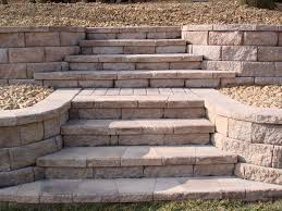 Building A Raised Patio With Retaining Wall by Retaining Wall Stairs Retaining Wall With Stone Steps