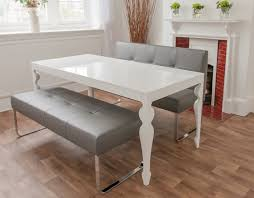 Ana White Dining Room Table by Bench Excellent White Metal Dining Bench Impressive White Faux