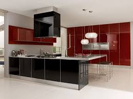 Luxury Modern Kitchen Designs Maroon Modern Kitchen Decorating Idea