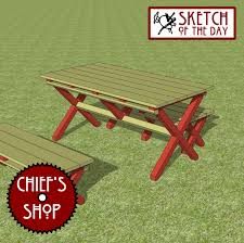 Free Woodworking Plans For Picnic Table by Build Free Woodworking Plans Picnic Table Diy Pdf Curved Wood