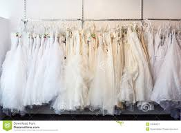 wedding shop collection of wedding dresses in the shop royalty free stock