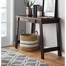 Mainstays Writing Table Amazon Com Mainstays Logan Writing Desk Espresso Kitchen U0026 Dining