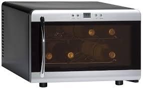 cheap glass door bar fridge amazon com 8 bottle wine cooler glass door home kitchen u0026 dining