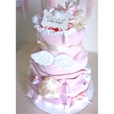 angel wings diaper cake for baby baby shower centerpiece