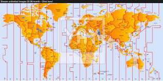 World Map Time Zone by Timezone Map Vector Yayimages Com