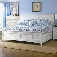 white full size bed with storage drawers underneath smart full