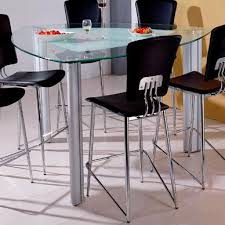 glass pub table and chairs holland house bay front triangle glass pub table fmg local home