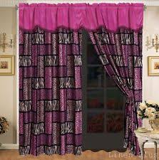Zebra Curtain Panels Safari Curtains Ebay