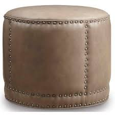 Round Cocktail Ottoman Upholstered by Hooker Furniture Dowdy Round Cocktail Ottoman Upholstery Aspen