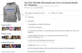 the first 185 000 attendants get a free facebook hoodie for