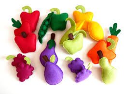 felt fruit and vegetables plush play set toy play food for