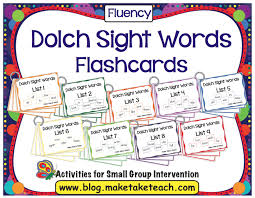 Words Cards Dolch 220 Sight Word Assessment Make Take U0026 Teach