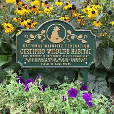 certified wildlife habitat sign shop nwf