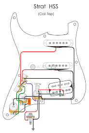 electric guitar wiring strat hss coil tap electric circuit