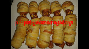 puff pastry cheese mummy dogs recipe youtube