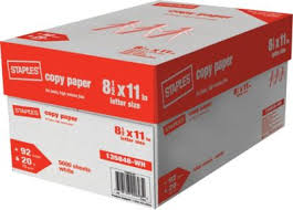 paper ream box staples copy paper letter size 8 5 11 75gsm and 80gsm office and
