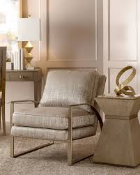Upholstered Accent Chair Nahla Metal And Upholstered Accent Chair