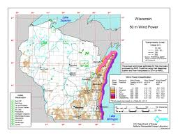 Wisconsin Topographic Map by Download Free Wisconsin Wind Energy Maps