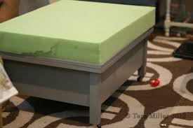 Upholstered Ottoman Coffee Table Coffee Table To Upholstered Ottoman Tutorial Tara Miller Designs