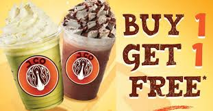 Coffe J Co j co donuts coffee to offer 1 for 1 frappe at all outlets on 28
