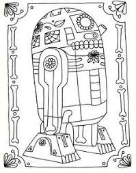 dark vader sugar skull coloring az coloring pages