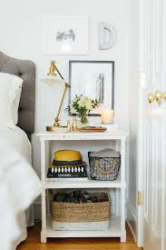 girls white bedside table 7 nightstand decor essentials hello lovely living