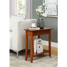 convenience concepts american heritage wedge end table multiple