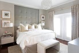 Gray Tufted Headboard Inset Tall Gray Tufted Headboard Transitional Bedroom