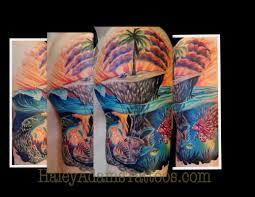 new school water tattoo haley adams tattoo tattoos nature water island and mutant fish