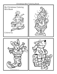 christmas mini coloring book cut out the pictures and staple
